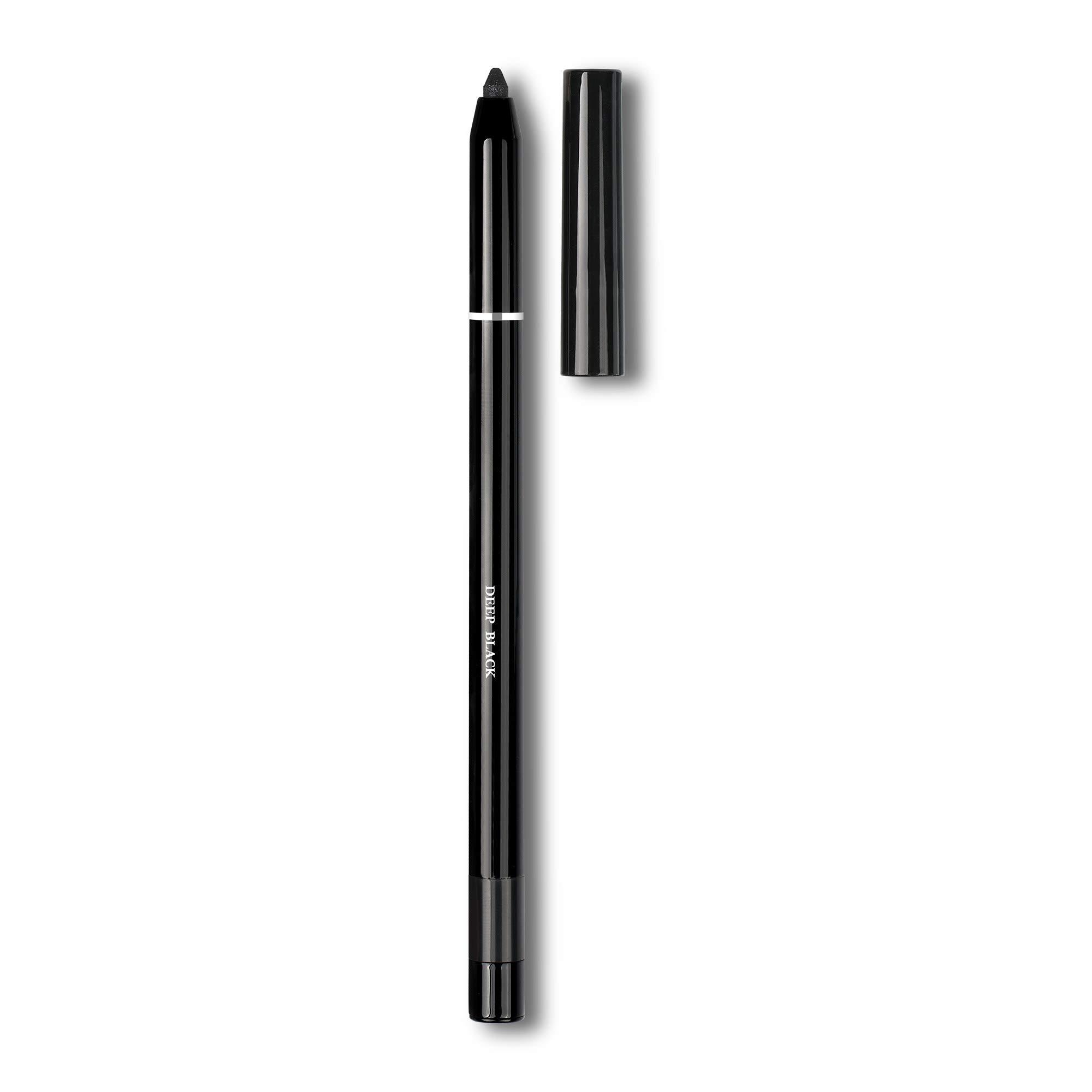 WaterProof Premium Gel Eyeliner | Deep Black Color | Dlux Professional | MakeUp | 0.4 g | Oil free | Double Shadow Effect | Fineset Soft Gel Texture | Sharpner Included