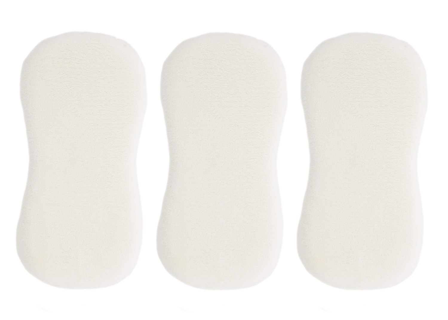 ABN Long Pile Microfiber Wash Sponge 3-Pack – White Cleaning Sponges for Car Washing and Vehicle Detailing