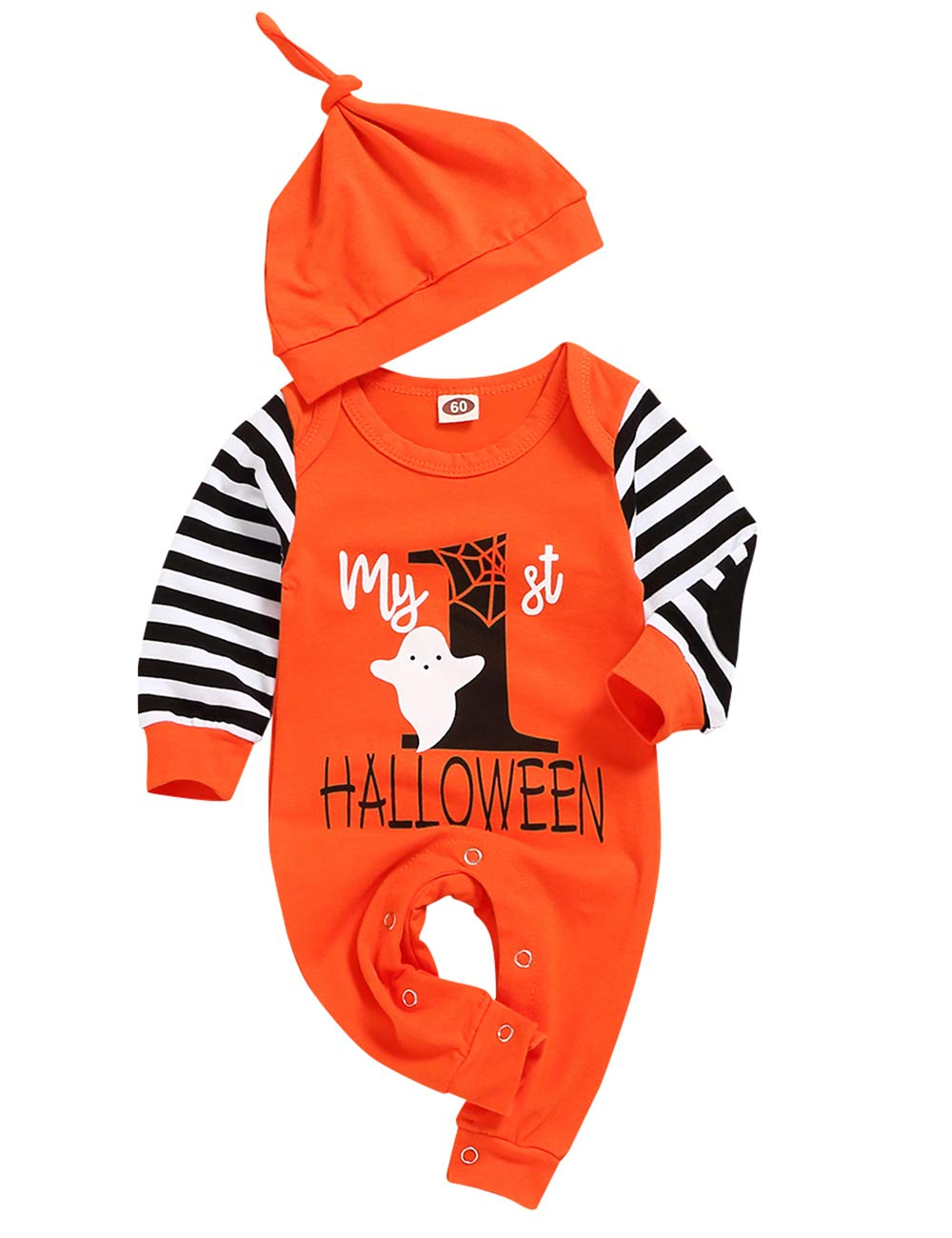 SINDA My First Halloween Rompers Newborn Baby Boy Girl Jumpsuit Fringe 2Pcs Outfit
