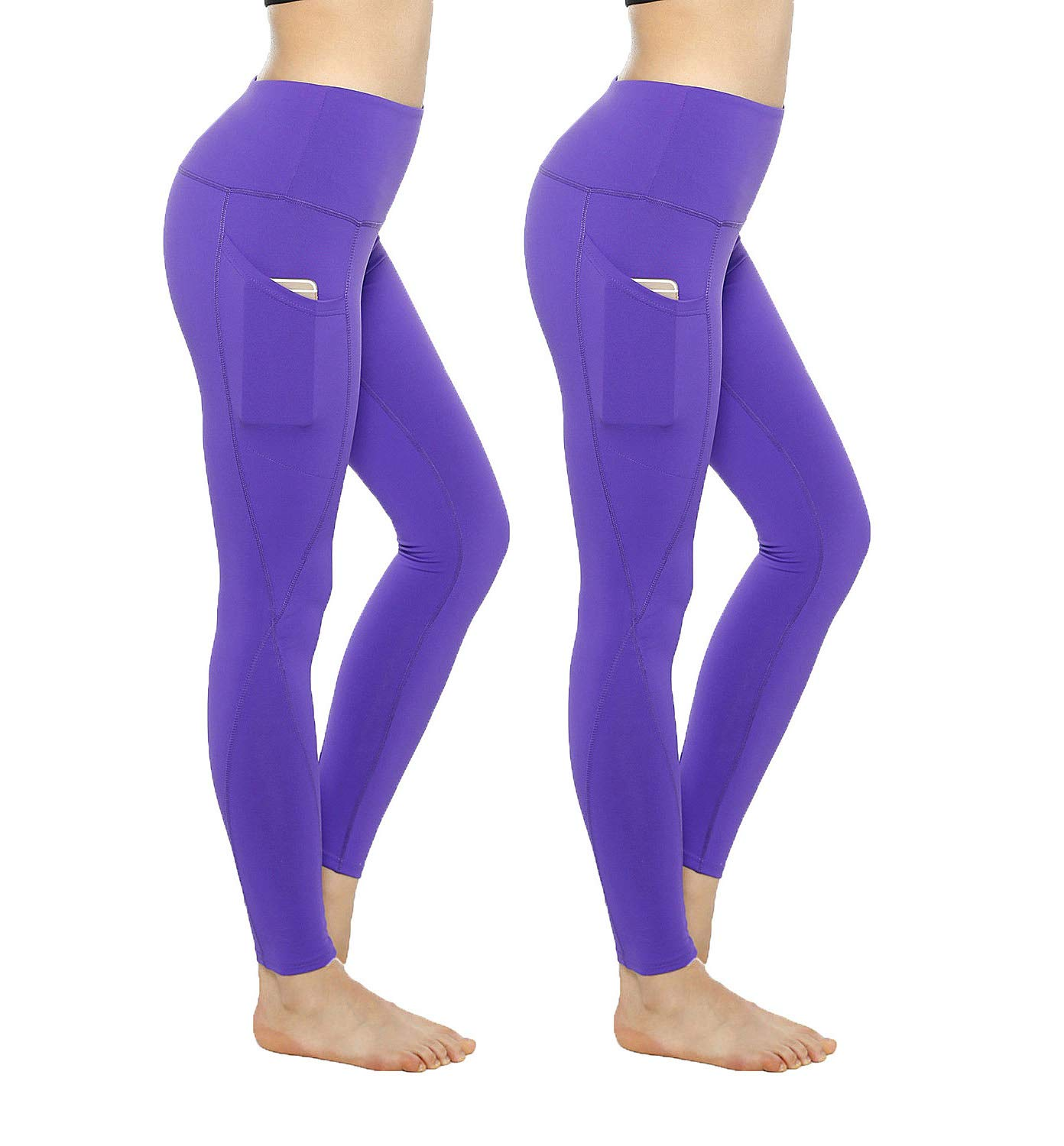 KT Workout Leggings for Women - High Waisted Leggings Pants with Pockets - Reg & Plus Size - 10+ Colors