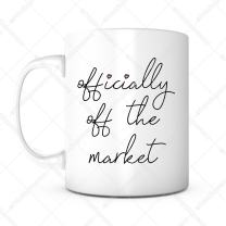 Officially Off The Market-Engagement Gifts,Engagement Mug,Newly Engaged,Groom Gift,Groom Coffee Mug,Fiance Mug,Wedding Mug,Bridal Shower Gift,Wedding Gift,Future Husband,Proposal Mug,Bride To Be Gift