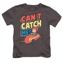 Popfunk Curious George Juvenile Kids Can't Catch Me T Shirt & Stickers