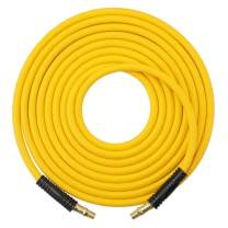 Utool Air Hose for Air Hose Reel 3/8 inch x 25 ft Rubber Air Compressor Hose with Swivel End and Bend Restrictor Fitting