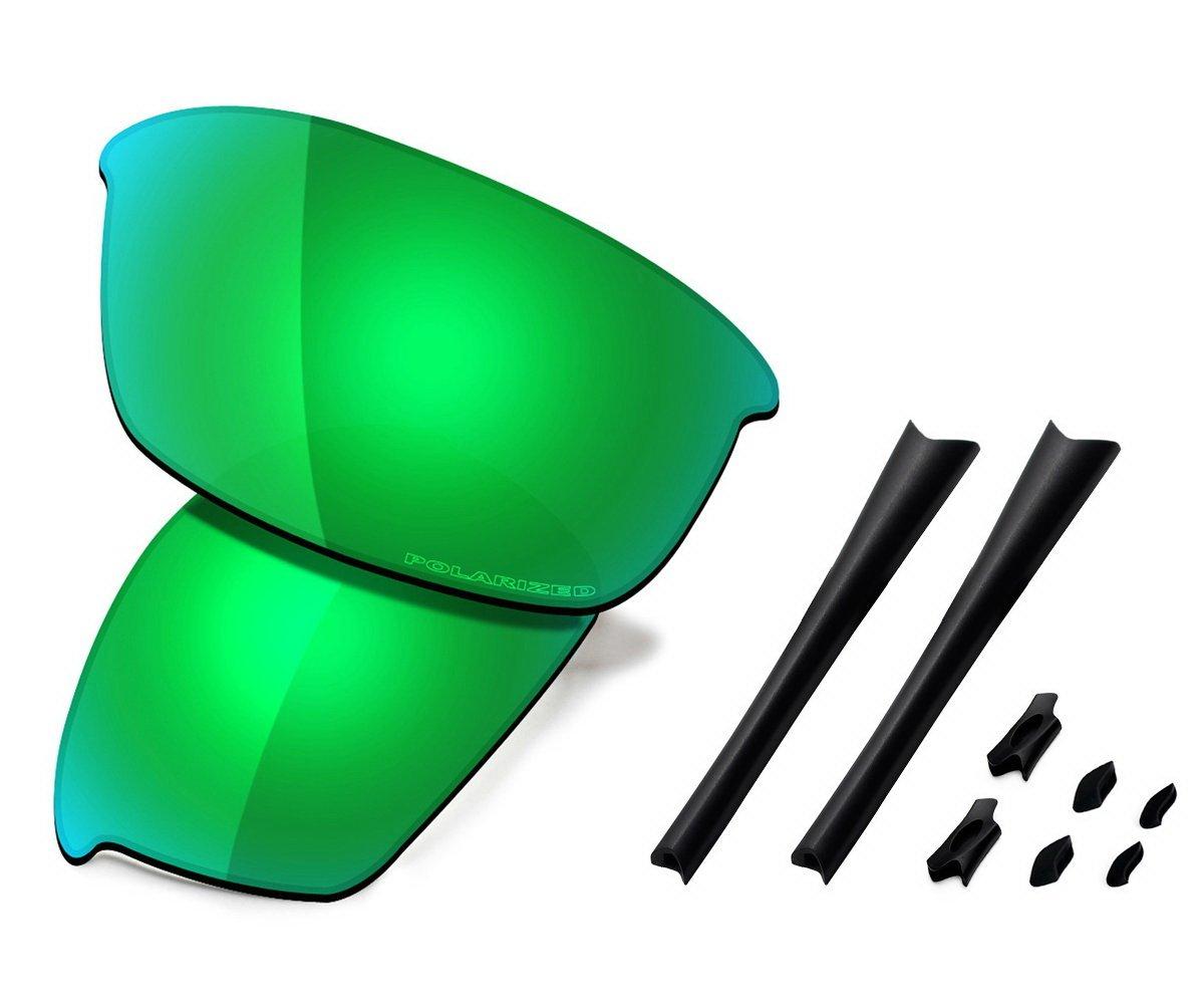 Saucer Premium Replacement Lenses & Rubber Kits for Oakley Flak Jacket Sunglasses