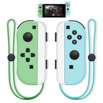 SINGLAND Creative Easter Gifts for Kids Adults,Joy Con Wireless Controller Replacement for Nintendo Switch, Remote Left&Right Controller with Wrist Strap,Support Wake-up Function (Blue and Green)
