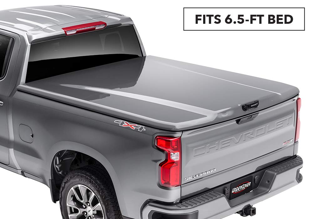 "Undercover Elite LX One-Piece Truck Bed Tonneau Cover | UC4128L-202 | Fits 14-17 Toyota Tundra202- Black 6'5"" Bed"