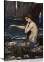 A Mermaid John William Waterhouse Canvas Wall Art Picture Print (24x16)