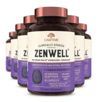ZenWell - Organic Ashwagandha with KSM-66 | Clinically Studied Stress Reduction and Neural Protection (360 Capsules)