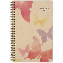 """AT-A-GLANCE 2020 Weekly & Monthly Planner, 5-1/2"""" x 8-1/2"""", Small, Recycled, Watercolors (791-200G)"""