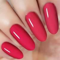 Bright Red Nail Dipping Powder 1 Ounce/28g (added vitamin) I.B.N Acrylic Dip Powder Colors, No Need Nail Dryer Lamp Cured (DIP 046)