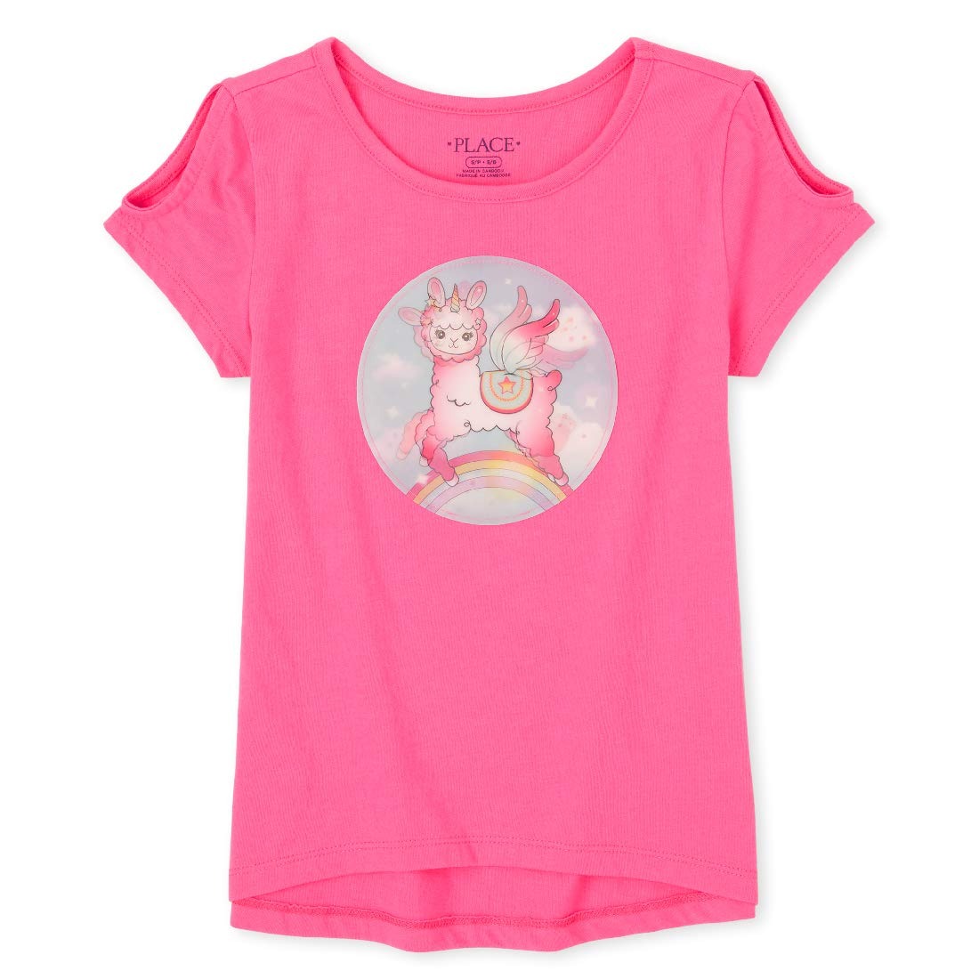 The Children's Place Girls' Cold Shoulder Graphic Top