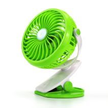 Alytimes USB Fan 360 Rotation Personal Clip or Desk Fan with Multi Versatile for Hurricanes, Car, Baby Stroller and Outdoor (Green)