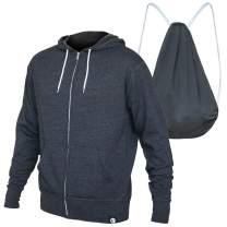 Quikflip 2-in-1 Reversible Backpack Hoodie (As Seen on Shark Tank) Unisex Full-Zip Hero Hoodie Lite