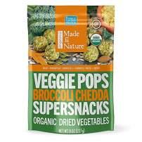 Made In Nature Organic Broccoli Chedda Veggie Pops, 8oz - Non-GMO Vegan Veggie Super Snack