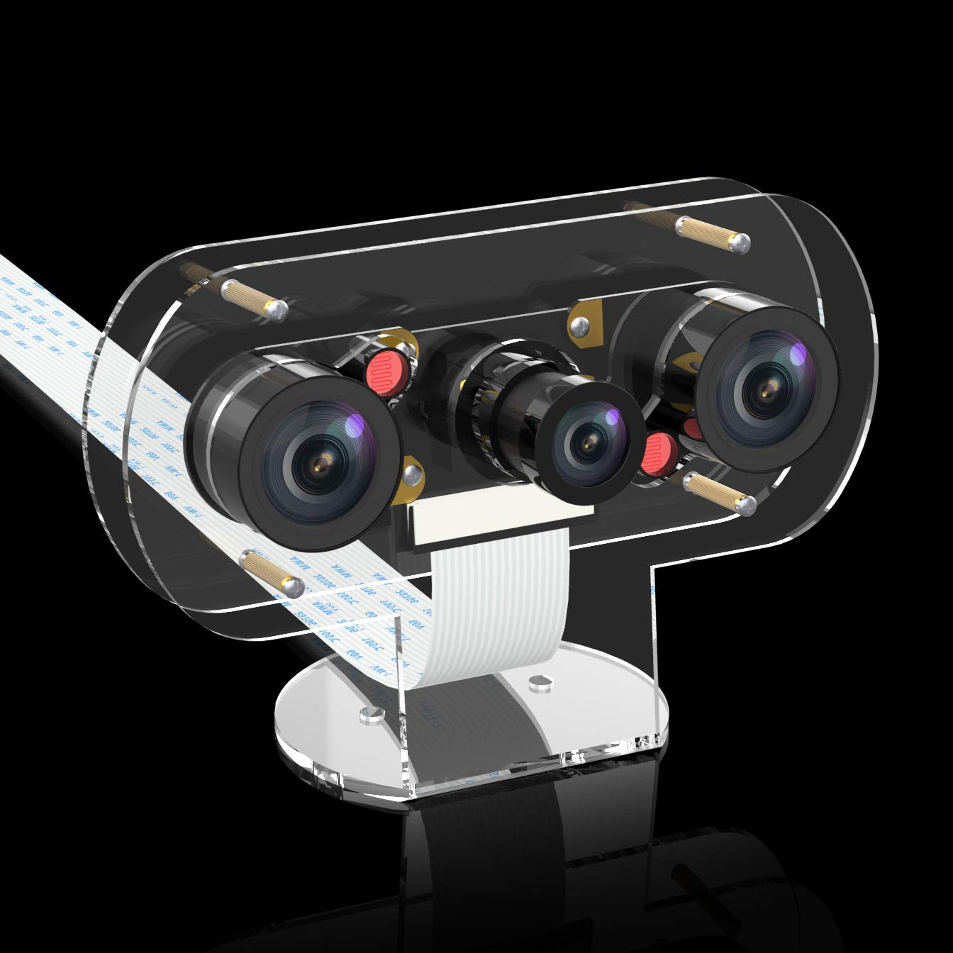 Infrared Night Vision IR Camera for Raspberry Pi 4, Pi 3b+ Video Webcam with Case Suits for 3D Printer