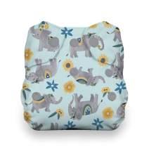 Thirsties Natural Newborn All in One Cloth Diaper, Snap Closure, Elefantabulous (5-14 lbs)