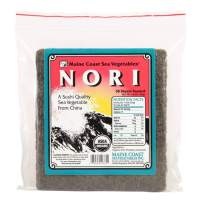 Nori Sushi Sheets (Toasted)   50 Count   Organic Seaweed Wraps for Making Sushi   Maine Coast Sea Vegetables