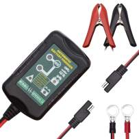DEEWAZ Smart Battery Charger 6V/12V 1.5A Fully Automatic Trickle Battery Charger/Maintainer With Cable Clamps