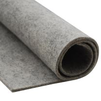 HomeModa Studio Thick Wool Felt Fabric Sheet,Designer Wool Felt by The Yard,3mm and 5mm Thicknesses (Light Grey, 5 mm)