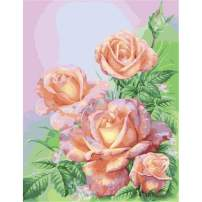 Diamond Painting Kits for Adults Kids, 5D DIY Pink Rose Diamond Art Accessories with Round Full Drill for Home Wall Decor - 11.8×15.7Inches
