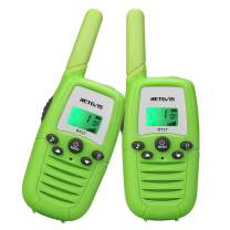 Retevis RT37 Outdoor Toys for 5 to 7 Year Old Boys Girls Teen, Walkie Talkies for Kids, Kids Birthday Gifts to Indoor Games and Outdoor Adventures (Green, 2 Pack)