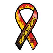 Support Our Firefighters Mini Ribbon Magnet