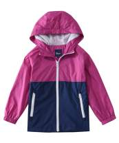 Hiheart Boys Girls Summer Lightweight Hooded Jackets Water Resistant Raincoat