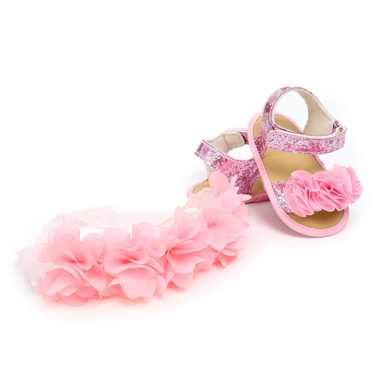 Ohwawadi Infant Baby Girl Shoes Baby Mary Jane Flats Princess Wedding Dress Shoes Crib Shoe for Newborns, Infants, Babies, and Toddlers