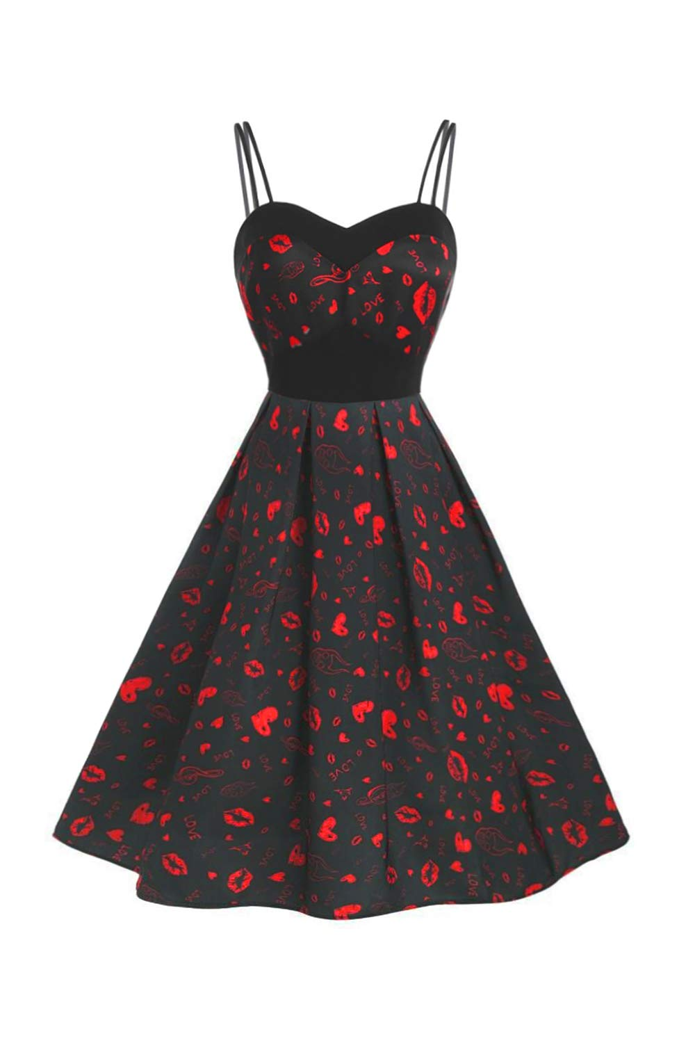 Women's 1950s Retro Vintage Cocktail Party Swing Dress Casual Evening Wedding Party Sleeveless Cami Dresses