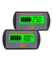 CPTDCL Touch Control Button Multifunction 24V Lead Acid Battery Capacity Indicator Voltage Tester LCD Battery Power Meter Voltmeter