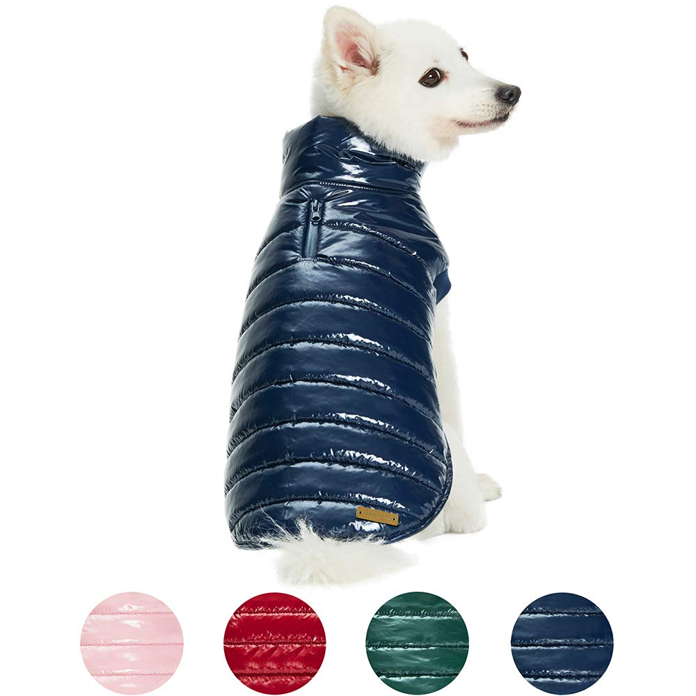 Blueberry Pet 2020 New 10+ Patterns Fall & Winter Dog Coats - Multicolored Puffer Jacket, Chenille Interlock Sweater and Faux Fur Dog Scarf