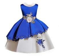 MSFENG Flower Big Little Girls Formal Party Dress Kids Wedding Bridesmaid Pageant Birthday Toddler Princess Dresses