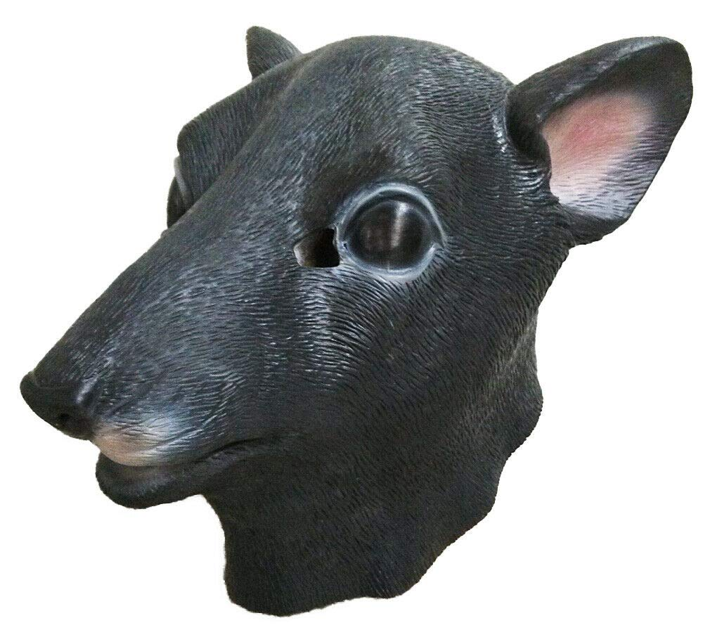 Black Mouse Rat Latex Animal Mask Full Head Rubber Masquerade Cosplay Mask Party Face Carnival