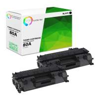 TCT Premium Compatible Toner Cartridge Replacement for HP 80A CF280A Black Works with HP Laserjet Pro 400 M401A M401D M401N, M401DN M401DNE M401DW MFP M425DN M425DW Printers (2,700 Pages) - 2 Pack