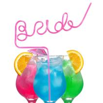 ADJOY Big Bride Sipping Straw for Bachelorette Party, Bridal, Hen, Bride to Be Party and Girls Night Out - Wedding Party Favors Decoration - Best Bachelorette Party Supplies