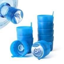 Magicfour Water Bottle Caps, Water Jug Caps, 55mm 3 & 5 Gallon Water Bottle Caps Water Jug Caps Non-Spill Replacement Caps Water Bottle Lids Water Bottle Snap On Cap for 3 & 5 Gallon Water Jug