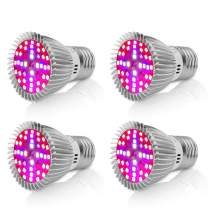 Led Grow Light Bulb,Derlights 40W Equivalent E26 Full Spectrum Led Grow Light Bulb, SMD2835 Grow Plant Light for Indoor Garden Greenhouse and Hydropoics Greenhouse Organic,Pack of 4