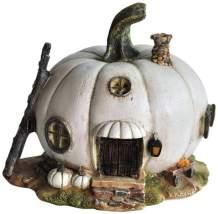 Top Collection Miniature Fairy Garden and Terrarium White Pumpkin Fairy House Statue