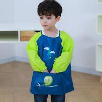 Hosim Kids Painting Apron Kitchen Art Craft Smock with Long Sleeves Large Pocket