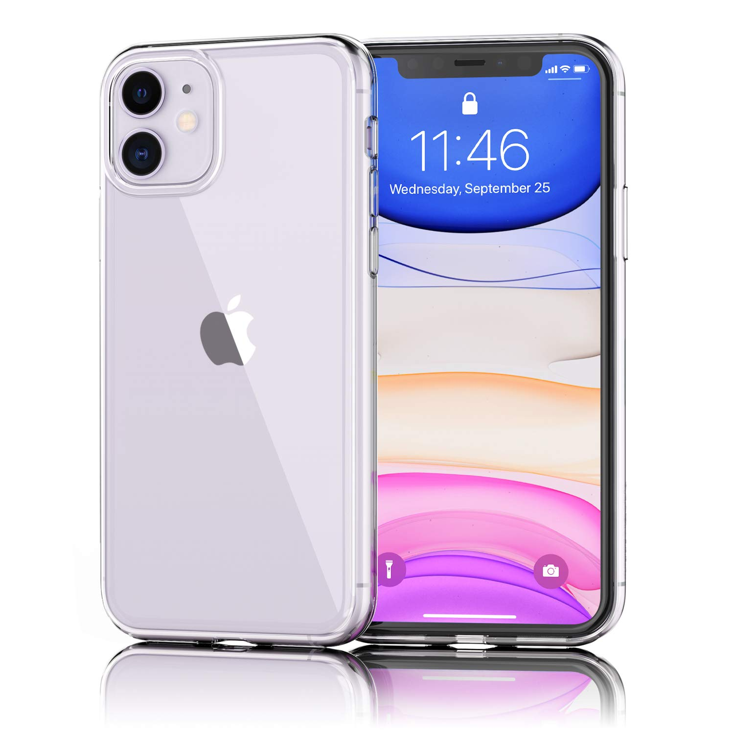 UNBREAKcable iPhone 11 Case, Crystal Clear, Ultra-Thin Slim Soft TPU Silicone Protective Transparent Case Cover for 6.1-inch iPhone 11 (2019), Dustproof & Anti-Yellow