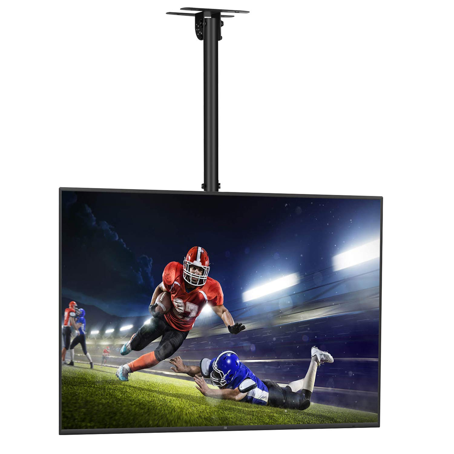 """SIMBR Ceiling TV Mount for 22-75"""" TV Adjustable 6 Heights Tilting Swiveling for LED, LCD, Plasma Flat Screen with VESA 600x400mm and 50kg/110lbs"""