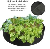 Plant Growing Bags,Homthia Round Garden Raised Beds Breathable Planting Bed Planter Grow Bag for Herb Flower Vegetable Plants (Dia 24'' x H 8'', Black)