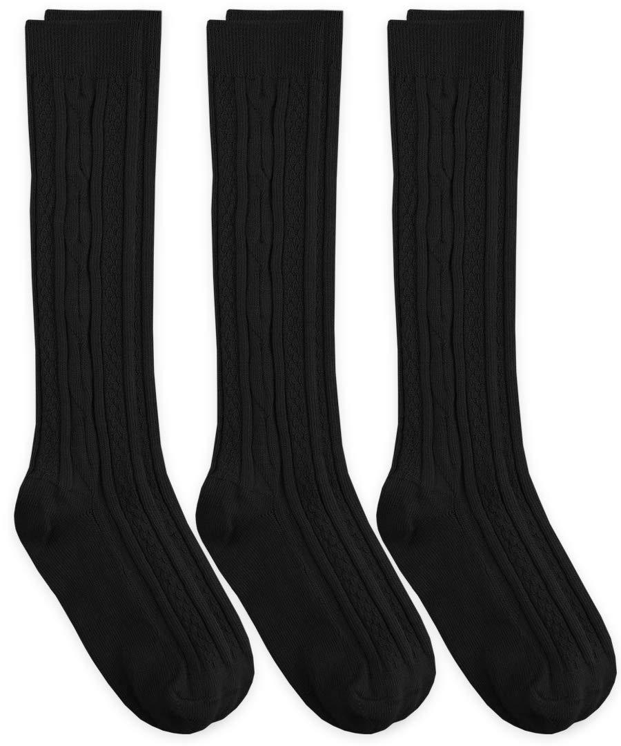 Jefferies Socks Womens Cable Knit Knee High Socks 3 Pair Pack