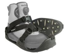 KORKERS RockTrax Plus Fishing Overshoe, Size Large, Black/Moonrock (FA5101)