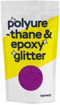 Hemway Metallic Glitter Floor Crystals for Epoxy Resin Flooring (500g) Domestic, Commercial, Industrial - Garage, Basement - Can be Used with Internal & External (Fuchsia)