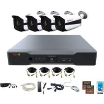 Revo America AeroHD 4Ch. 5MP DVR, 1TB HDD Video Security System, 4 x 5 MP IR Bullet Cameras Indoor/Outdoor - Remote Access via Smart Phone, Tablet, PC & MAC