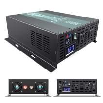 WZRELB High Efficiency 1500W Continuous Power 3KW Surge Power 12Vdc to 120Vac Pure Sine Wave Power Inverter Power Converter, (RBP150012B1)