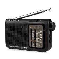 Retekess V117 Shortwave Radio Analog Radio Emergency Transistor AM FM Portable Radio Support Earphone Operated by 2 AA Battery for Elder (Black)