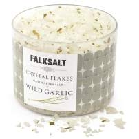FALKSALT Wild Garlic Sea Salt Flakes – All Natural, Finishing Mediterranean Sea Salt Flakes for Meat, Poultry, Seafood, Pasta, Veggies. [2.47oz - 5 Flavors Available]