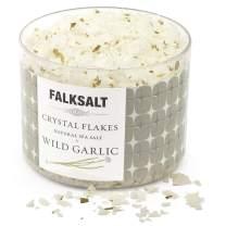 FALKSALT Wild Garlic Sea Salt Flakes – All Natural, Finishing Mediterranean Sea Salt Flakes for Meat, Poultry, Seafood, Pasta, Veggies. [2.47oz - 5 Flavors Available]